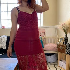 Lovers and friend lace midi dress